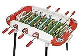 Chicos-72509 Strategic Supercup Futbolín Infantil Electrónico con Sonido Jugadores Intercambiables y Marcador de Goles, a partir de 3 años, color blanco con rojo, 86.5 cm x 73.5 cm x 71.5 cm (72509)