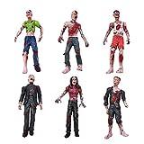 YIJIAOYUN Juego de 6 Juguetes Zombie Figuras de acción Terror Cadáver