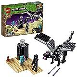 LEGO21151MinecraftLaBatallaenelEndJuguetedeConstrucciónconDragónEnderyMiniFiguradeEnderman