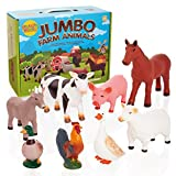 Learning Minds Conjunto de 8 Figuras Jumbo Farm Animal - 18 Meses +