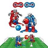 RC TECNIC Juego de Mesa Futbol Futbolin para Niños Robot Interactivo   Juguete Robots Teledirigidos Incluye Campo, Porterias, Mandos y Conos Entrenamiento, Regalo Navidad Cumpleaños