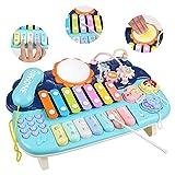 Lictin Juguete Musical para Bebés-Juguete Musical de Piano para Bebés Niños y Niñas con Baquetas Juguetes de Instrumentos Musicales para Bebés con Luz y Sonido