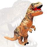 QASIMOF Disfraz Dinosaurio Inflable T-Rex Disfraz Brown Adult para Halloween Carnaval Fiesta Cospaly (Brown)