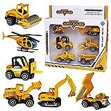 Vanplay Camiones Juguetes 1:64 Modle Escala Coches Set Excavadoras para Niños Niñas3 4 5 Años(6PCS) (6PCS)