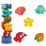 Funmo Animales bebé Juguetes de Baño, Juguetes de Baño Niños, Juguetes de Natación del Flotante, Juguete para el baño, 5 Piezas Juguetes acuáticos diversión acuática para niños