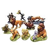 WILDLION Figura De Acción De Lion King Simba Un Conjunto Completo De 9 Adornos De Juguete