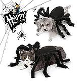 Disfraz De Halloween del Gatos Perros, Araña De Disfraces De Perro Ropa para Perros y Gatos, Disfraces Divertidos de Halloween para Mascotas
