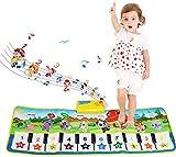 NEWSTYLE Alfombra de Piano, Alfombra de Baile Musical para Bebe, Instrumentos Musicales Infantil, Juguetes Musicales para Bebés, Regalo del Bebé Musical Tapete