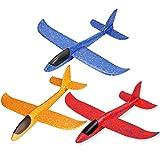 3 aviones planeadores de espuma