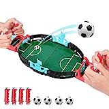 Kriogor Mini Mesa De Futbolín Juegos, Mesa de Juego de futbolín Mini Juego de Arcade de Mesa de fútbol Juego de fútbol de Escritorio en Miniatura para niños Fiesta Familiar