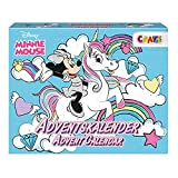 CRAZE Premium Advent Calendar 24669 adviento Navidad 2020 Minnie Mouse Calendario de Juguetes niños con Contenido Creativo y Grandes sorpresas, Color Play Set