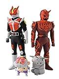 Bandai Kamen Rider Den-o and Shin-o Action Figures Soul of Soft Vinyl Ban Dai 4 Pack (japan import)