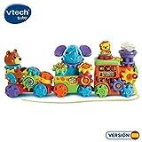 VTech-Diver Ruedas Tren de Animales Interactivo para Jugar con Sus En, Multicolor (80-198922)