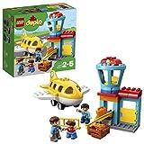LEGO DUPLO - Town Aeropuerto, Juguete de Construcción de Preescolar para Niños y Niñas de 2 a 5 Años con Avión y Torre de Control (10871)