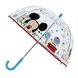 Mickey Mouse Paraguas Mickey | Multicolor y Transparente Sombrilla para niños