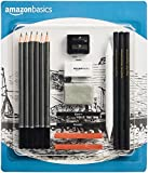 AmazonBasics - Juego de 17 lápices para dibujos y bocetos