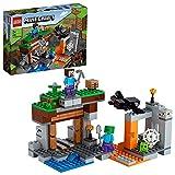 LEGO21166MinecraftLaMinaAbandonada,SetdeConstruccióndelaCuevadeZombiesconFigurasdeSteve,SlimeyAraña