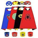 SUPRBIRD Disfraces de Superhéroes Capas de Superhéroes para Niños Capa y Máscaras de Superhéroe Disfraces de Superhéroes Fiestas Navidad o Carnaval - Juguetes para Niños y Niñas