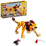 LEGO 31112 Creator 3en1 León Salvaje, Avestruz y Jabalí Set de Construcción, Animales de Juguete para Niños