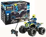 Revell-RC Quadbike policía Coche de Control Remoto, Color Azul (24644)