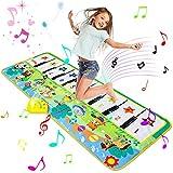 Luchild Alfombra Musical, Alfombra Piano para Niños Alfombrilla de Baile Teclado Estera de Alfombra Touch Juego Musical Portátil Educativo Musical Tapete, Juguete Electrónico Regalos - 130 x 48cm