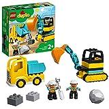 DUPLO Town DUPLO Construction Camión y Excavadora con Orugas Vehículo de Construcción de Juguete Set para Niños Pequeños de 2+ Años de Edad, multicolor (Lego ES 10931)