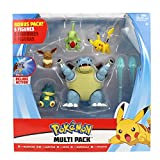 PoKéMoN Battle Figura Multi 5 Pack - Blastoise, Munchlax, Larvitar, Eevee & Pikachu - Nueva Ola 2020 - Detalles Auténticos