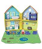 Peppa Pig Playset CASA Abierta Figuras Peppa y George + Muchos Accesorios Originales