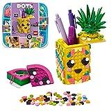 LEGO DOTS - Portalápices Piña, estuche creativo de juguete a partir de 6 años para construir y diseñar portalápices con forma de fruta, incluye piezas decorativas de colores (41906)