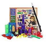 Juego de kits para principiantes de Magic para niños - 17 piezas. Accesorios de la magia. Misteriosa caja de trucos para Boy Girl Children, incluye taza mágica y pelota, trucos de cartas y monedas