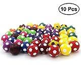 TOYMYTOY 10pcs Mini balones de fútbol de juguete 36MM Resco fútbol de mesa reemplazos de balones para niños (color surtido)