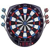 FITTIME Diana Electronicas Dardos Profesional,Juegos de Diana,27 Juegos y 243 Variantes de Juego,Pantalla LCD Scoring Indicator Target Board con 6 Dardos
