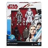 Star Wars Force Link Battle on Crait Figura de 3.75 Pulgadas, Paquete de 4