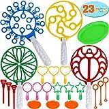Tacobear 23piezas Burbujas de jabón Niños Pompas de jabón Varitas de Burbujas Bubble Maker Bubble Wands Juego de jardín Juguete Burbujas Verano al Aire Libre Juguete de jardín para Niños