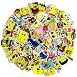 ZSWQ 100PCS Bob Esponja Pegatinas Juego Pegatinas Bob Esponja, Bob Esponja Spongebob Squarepants - Personalización, Scrapbooking, Bici, Moto, Auto