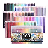 Brutfuner - Juego de lápices para colorear (160 unidades, base de aceite)
