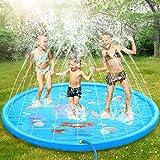 Dookey Splash Pad, Aspersor de Juego, Jardín de Verano Juguete Acuático para Niños Pulverización para Actividades Familiares Aire Libre /Fiesta /Playa /Jardín - PVC Respetuoso con el Medio Ambiente