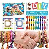 SUNNYPIG Pulsera de la Amistad de Bricolaje para niñas, Kits de fabricación de Pulseras para niñas de 4 a 9 años, Juego de Arte y Manualidades para niños de 5 a 6 7 8 años