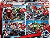 Educa - Multi 4 Puzzles Junior, puzzle infantil Avengers de 50,80,100 y 150 piezas, a partir de 5 años (16331)