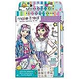 Make It Real 3203 diseño de Moda Sketchbook: Digital Dream. Diseño de Moda Inspirada Libro para Colorear para Chicas