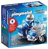 Playmobil Policía- City Action-Policía con Moto y Luces LED Playmobil Conjunto de Figuras, Multicolor (6923)