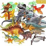 17 piezas de dinosaurios de juguete