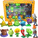 Plantas genuinas grandes vs. Zombie ToysConjunto completo de figuras de acción de anime de silicona suave con expulsión de niños para niños Regalos de Navidad
