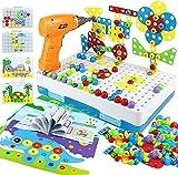 yoptote 224 PCS Juguetes Montessori Puzzles 3D Mosaicos Infantiles Manualidades Niños Dinosaurios Juguetes Educativos Bloques Construccion Herramientas Niños 3 4 5 6 Años