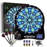 Turnart Diana Electrónica, Diana Electronica Profesional, Dardos Diana Electronica,6 Dardos Juego Digital con Sonido 48 Juegos 500 Variantes