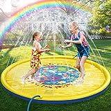 JOJOIN Splash Pad, Juego de Salpicaduras y Salpicaduras, Aspersor de Juego para Actividades Familiares Aire Libre /Fiesta /Playa /Jardín - PVC Super Durable, no Tóxico, Respetuoso con Medio Ambiente