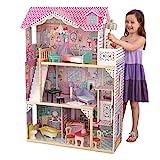 KidKraft- Annabelle Casa de muñecas de madera con muebles y accesorios incluidos, 3 pisos, para muñecas de 30 cm , Color Multicolor (65934)